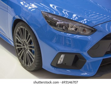 Serbia; Belgrade; April 2, 2017; Close up of Ford Focus right side; the 53rd International Motor Show in Belgrade from March 24th to April 2nd, 2017.