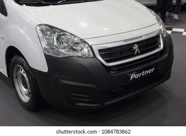 Serbia; Belgrade; March 24, 2018; Peugeot Partner front; the 54th International Motor Show in Belgrade from 22th to 28th March, 2018.