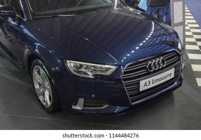 Serbia; Belgrade; March 24, 2018; The Audi A3 limousine; the 54th International Motor Show in Belgrade from 22th to 28th March, 2018.