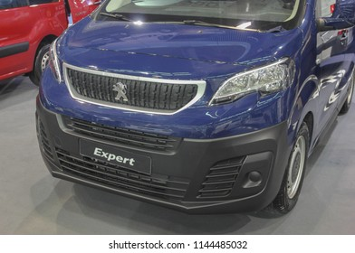 Serbia; Belgrade; March 24, 2018; Peugeot Expert front; the 54th International Motor Show in Belgrade from 22th to 28th March, 2018.