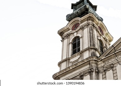 Serbia Subotica March 2019. Cathedral Catholic St. Teresa of Avila small basilica tower