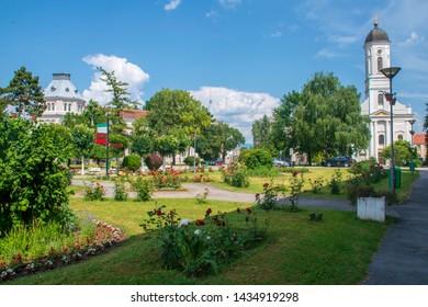 Serbia - Veliko Gradiste town central area near border with Romania