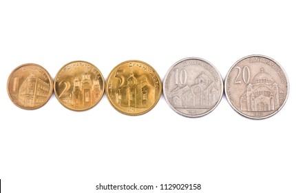 Serbian dinar images stock photos vectors shutterstock serbian dinar coins m4hsunfo