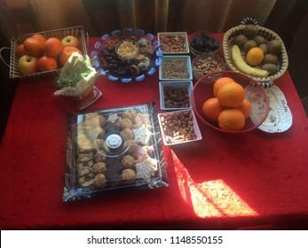 "Serbian Slava table (The Slava (""celebration""; Serbian Cyrillic: слава, pronounced [ˈslâʋa]) is a Serbian Orthodox Christian tradition of the ritual glorification of one's family's patron saint.)"