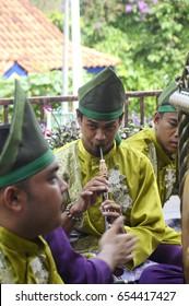 SERDANG, MALAYSIA -DECEMBER 7, 2016: Dikir Barat performance. It is a traditional and popular performance origin from the state of Kelantan, Malaysia.