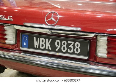 SERDANG, SELANGOR, MALAYSIA - JULY 29, 2017: Art of Speed in Malaysia. The biggest automotive event include motorcycle and cars. Mercedes Benz Vintage car.