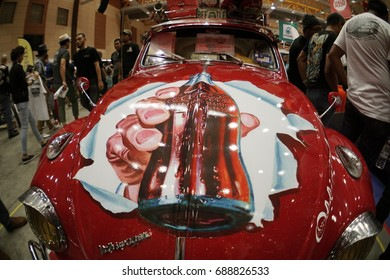 SERDANG, SELANGOR, MALAYSIA - JULY 29, 2017: Coca-Cola Custom Car. Art of Speed in Malaysia. The biggest automotive event include motorcycle and cars.