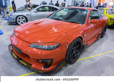 SERDANG, SELANGOR MALAYSIA - JULY 29,2017 : A Nissan Silvia S15 on display during the Art Of Speed festival in Malaysia.