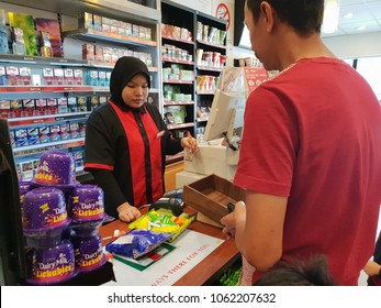 Seremban, Malaysia - 5/4/2018 : 7-eleven branch outlet in Seremban. It is the single largest convenience store chain with more than 1,905 stores nationwide, serving over 900,000 customer daily