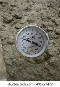 SEREMBAN, MALAYSIA -JANUARY 23, 2014: Thermometer to check concrete temperature.