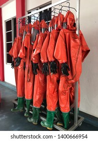 Seremban, May 18, 2019 .A hazmat suit also known as decontamination suit, is a piece of personal protective equipment that consists of an impermeable whole-body garment worn as protection against
