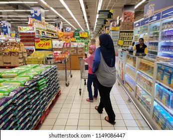 Seremban, Negeri Sembilan - 1/8/2018 : Customers walking inside the Mydin hypermarket in Senawang