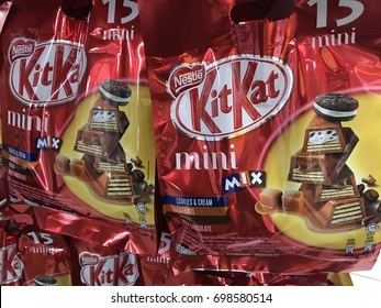 SEREMBAN.MALAYSIA.25 JULY 2017.Kit Kat, is chocolate wafer covered with bar created in 1911 by Rowntree's of York, England.