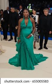 Serena Williams attends the 2017 Metropolitan Museum of Art Costume Institute Benefit Gala at The Metropolitan Museum of Art in New York, NY on May 1, 2017