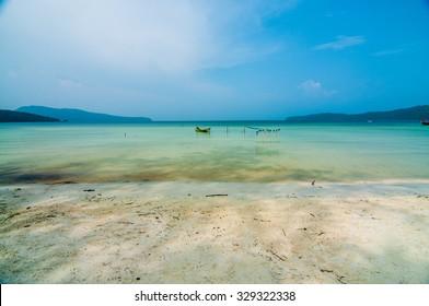 Serendipity Beach is the main beach in Koh Rong Samloem (also spelt Sanloem and Saloem), Cambodia.