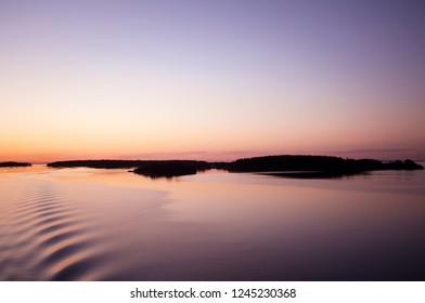 Serene Body of Water at Dawn/Dusk
