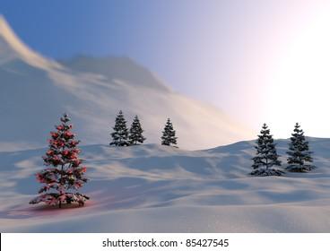 serene christmas scene
