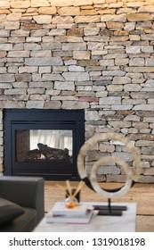 A serene fireplace mantel