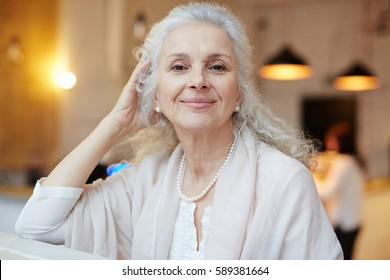 Serene grandmother looking at camera