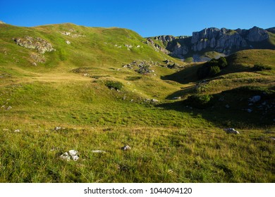 Serene landscape in the mountains of Montenegro