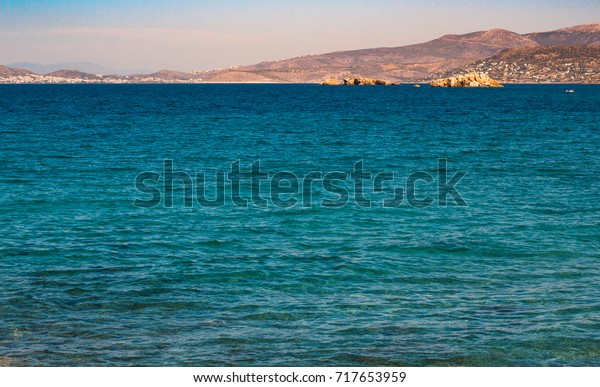 Serene mediterranean surrounded by vast array of islands