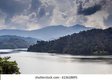 Serene mountain lake,Semenyih Malaysia