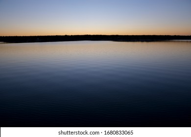 Serene Peaceful Lake Sunset Scene