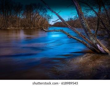 Serenity on the Kalamazoo River, Michigan.