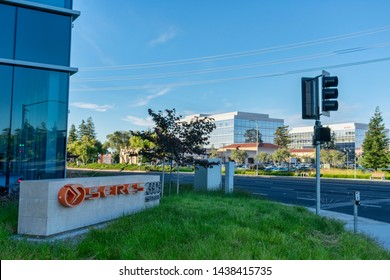 Seres logo and sign near headquarters in Silicon Valley. Seres is a transportation technology company developing and manufacturing electric vehicles - Sunnyvale, California, USA - June 29, 2019