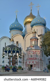 Sergiev Posad, Russia - August 29, 2015: the Cathedral of the Holy Trinity St. Sergius Lavra. The center of pilgrimage of the Christian world. Sergiev Posad is part of the Golden ring of Russia.