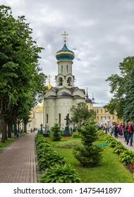SERGIEV POSAD, RUSSIA - June 21, 2018: Famous Holy Trinity-St. Sergius Lavra