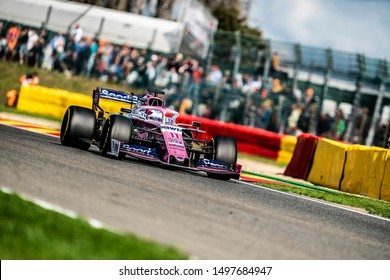 Sergio Perez (Mexico) in the Racing Point F1 Team RP19 2019 F1 car during the 2019 Formula 1 Johnnie Walker Belgian Grand Prix (29/08/2019 - 01/01/2019) at Circuit de Spa-Francorchamps Belgium
