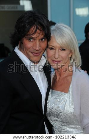 Sergio Peris Mencheta And Helen Mirren At The Love Ranch Los Angeles Premiere