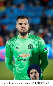 """Sergio Romero GK in match 1/8 finals of the Europa League between FC """"Rostov"""" and """"Manchester United"""", 09 March 2017 in Rostov-on-Don, Russia."""