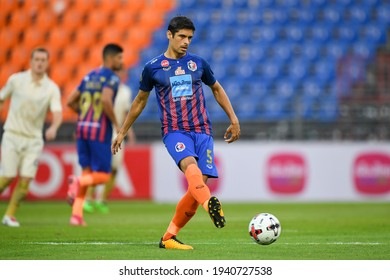 Sergio Suarez no.5 of Port f.c. in action during The Football Chang FA Cup 2020 match between Port f.c. and Buriram United at Pat Stadium on February 03, 2021 in Bangkok, Thailand.