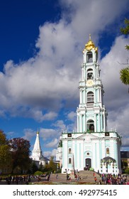 SERGIYEV POSAD, RUSSIA - October, 2016: Trinity Sergius Lavra in Sergiev Posad