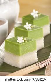 Seri Muka Kuih also known as the Pandan Custard Cake. Unsharpened file