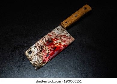 Serial killer tools / bloody meat cutter