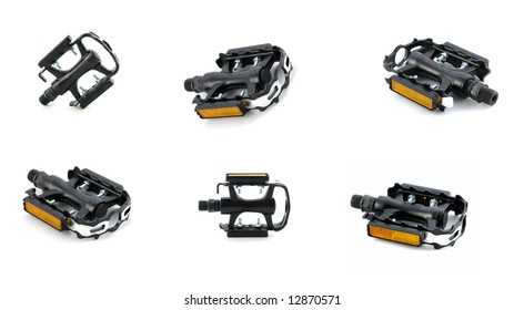 serie sport: pedal isolated on white background