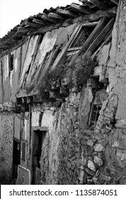 series of black and white artistic photographs of the towns and fields of Soria, spain,