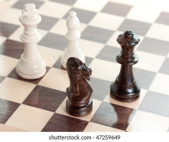 series of chess: a group of figures