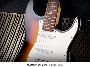 Series. guitar amplifier and electricguitar