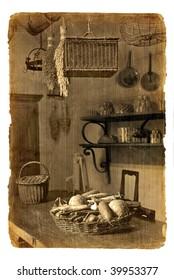 Series of illustrations-postcards. Ancient Interior