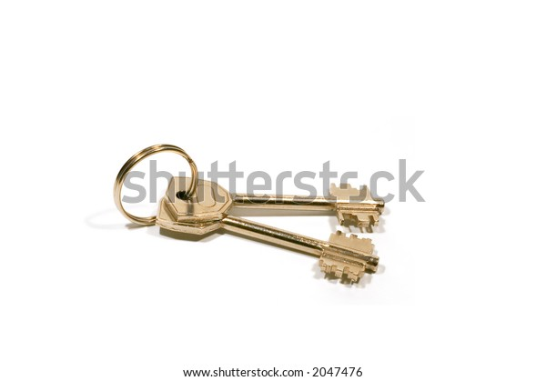 series: isolated on white: Key with ring