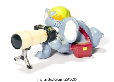 series: isolated on white: toy Elephant photographer
