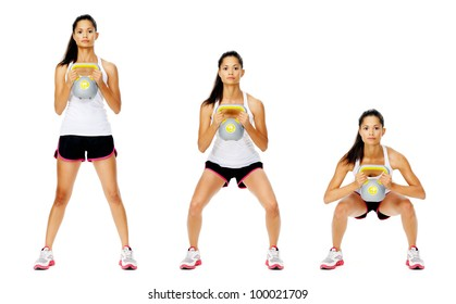 Series of kettlebell weight exercise sequence to promote strength and muscle tone, please see portfolio for more in this series.