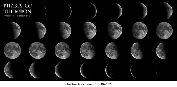 Series of Moon in November 2016