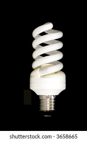 series object on black - electric light