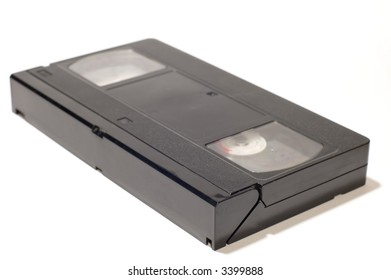 series object on white video cassette