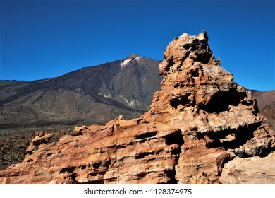Series of photographs of the Cañadas in the Teide National Park, in Tenerife,